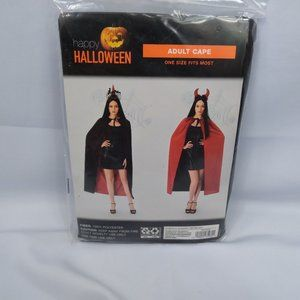 ⭐🎃 Reversible Adult Cape Halloween Costume NIP
